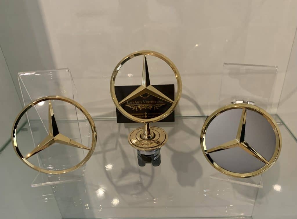 Mercedes sterne vergolden lassen