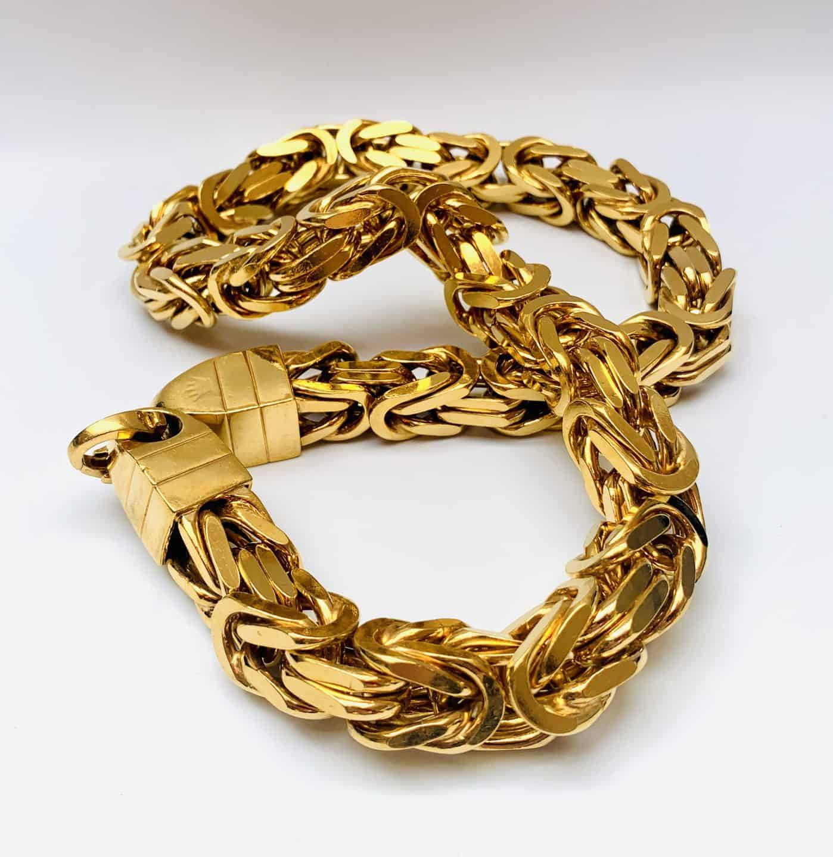 Königskette vergoldet schmuck neu vergolden lassen
