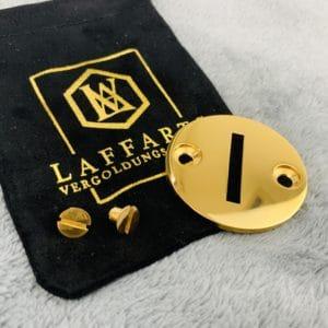 Münzschlitz aus Messing vergolden vergoldet