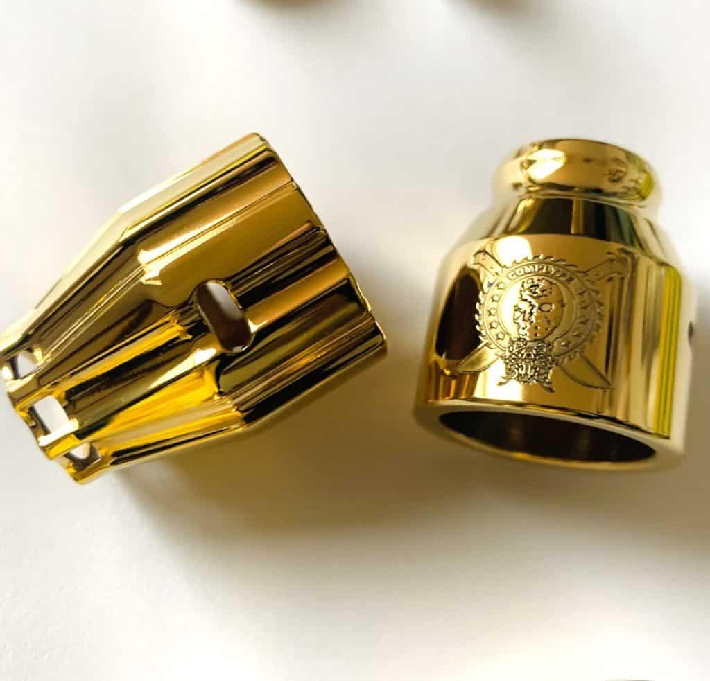 Messing Caps vergoldet